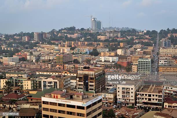 kampala cityscape - uganda stock pictures, royalty-free photos & images