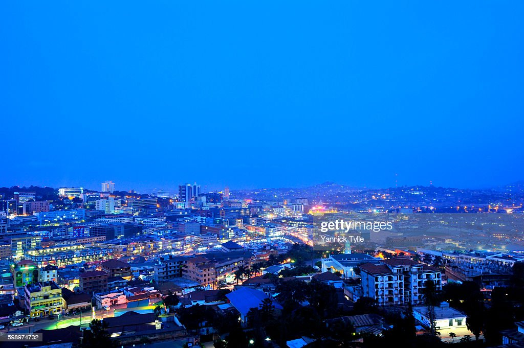 Kampala cityscape : Stock Photo