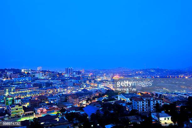 kampala cityscape - kampala stock pictures, royalty-free photos & images