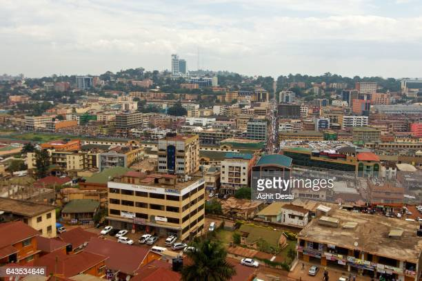 kampala is the capital and the largest city of uganda. - kampala stock-fotos und bilder