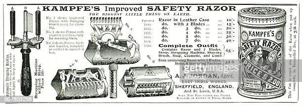 Kampfe's safety razor advert from Punch magazine 1897