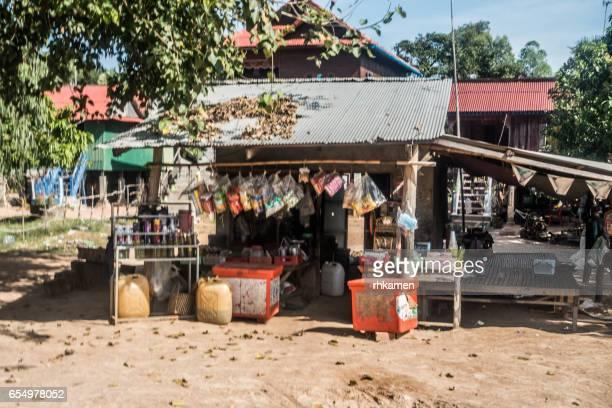 Kampon Tralach, Kandal Province, Cambodia. Rural village.
