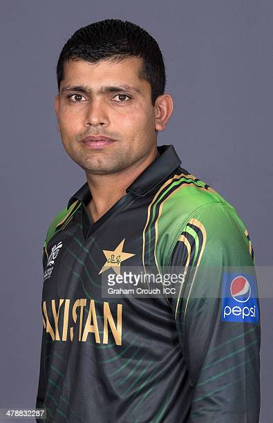 Kamran Akmal of Pakistan at the headshot session at the Pan Pacific Hotel Dhaka in the lead up to the ICC World Twenty20 Bangladesh 2014 on March 15...