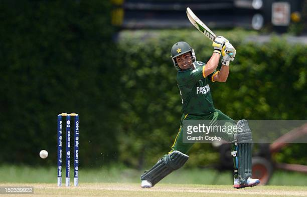 Kamran Akmal of Pakistan bats during the ICC T20 World Cup Warm Up Match between England and Pakistan at P Sara Oval on September 19, 2012 in...
