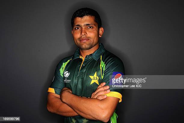 Kamran Akmal of Pakistan during the Pakistan Portrait Session at the Hyatt Hotel on May 28 2013 in Birmingham England