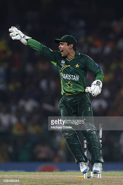 Kamran Akmal of Pakistan during the Pakistan v Sri Lanka 2011 ICC World Cup Group A match at the R Premadasa Stadium on February 26 2011 in Colombo...