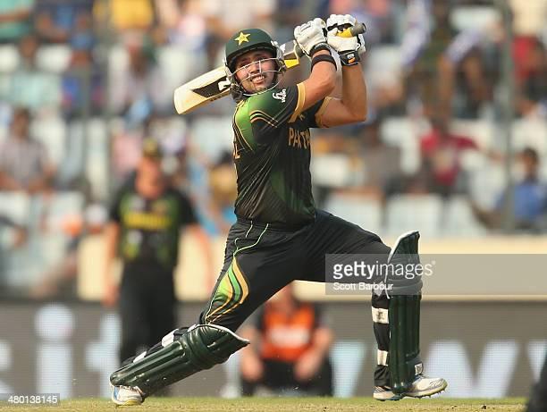 Kamran Akmal of Pakistan hits a boundary during the ICC World Twenty20 Bangladesh 2014 match between Australia and Pakistan at ShereBangla Mirpur...