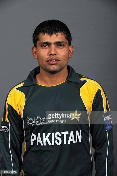 Kamran Akmal poses during the ICC Champions photocall session of the Pakistan cricket team at Sandton Sun on September 19 2009 in Sandton South Africa