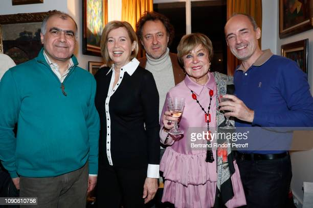 Kamran Catherine Alric JeanChristophe Molinier Yanou Collart and Gilles Muzas attend Yanou Collart receives her friends for the Galette des Rois in...