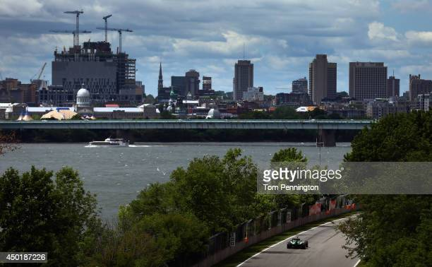 Kamui Kobayashi of Japan and Caterham drives during practice ahead of the Canadian Formula One Grand Prix at Circuit Gilles Villeneuve on June 6 2014...