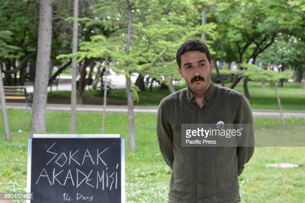 Kamuran Akin a former academic of Ankara University who was sacked by a decreelaw during the state of emergency gives a lecture on 'Geospatial and...