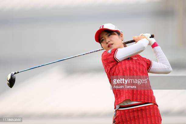 Kana Mikashima of Japan hits her tee shot on the 10th hole during the first round of the Japan Women's Open Championship at Cocopa Resort Club...