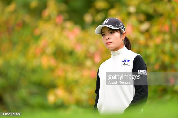 Kana Mikashima of Japan is seen on the 12th tee during the first round of the Nobuta Group Masters GC Ladies at Masters Golf Club on October 24 2019...