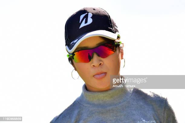 Kana Mikashima of Japan poses during the third round of the LPGA Tour Championship Ricoh Cup at Miyazaki Country Club on November 30, 2019 in...