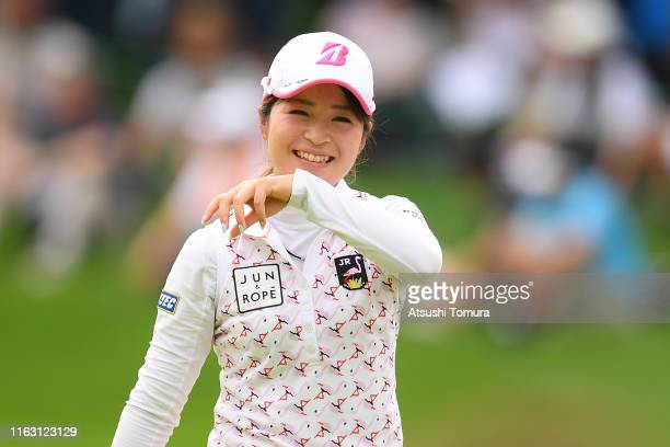 Kana Mikashima of Japan smiles during the second round of the Thamansa Thavasa Girls Collection Ladies Tournament at the Eagle Point Golf Club on...