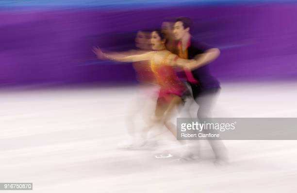 Kana Muramoto and Chris Reed of Japan compete during the Figure Skating Team Event Ice Dance Short Dance on day two of the PyeongChang 2018 Winter...