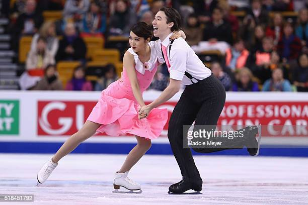 Kana Muramoto and Chris Reed of Japan compete in the Free Dance Program during Day 4 of the ISU World Figure Skating Championships 2016 at TD Garden...