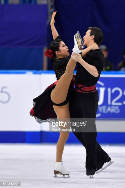 Kana Muramoto and Chris Reed of Japan compete in the Ice Dance Free Dance during ISU Four Continents Figure Skating Championships Gangneung Test...
