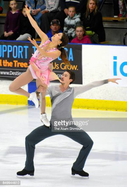 Kana Muramoto and Chris Reed of Japan compete in the Ice Dance Free Dance during day three of the US International Fifure Skating Classic at the SLC...