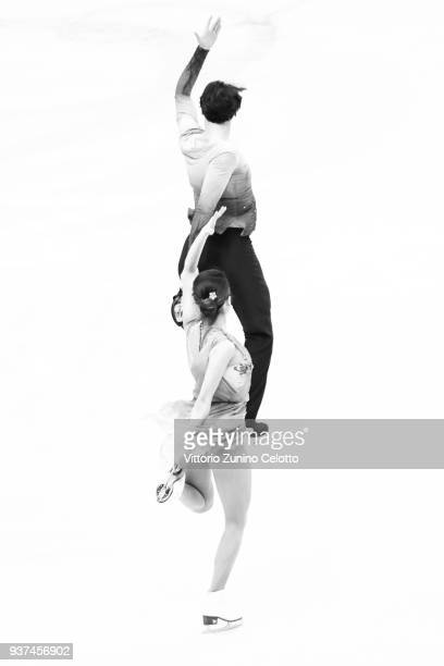 Kana Muramoto and Chris Reed of Japan compete in the Ice Dance Free Dance during day four of the World Figure Skating Championships at Mediolanum...