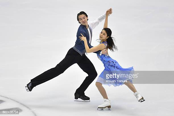 Kana Muramoto and Chris Reed of Japan compete in the Ice Dance short dance during the day one of the 2015 Japan Figure Skating Championships at the...