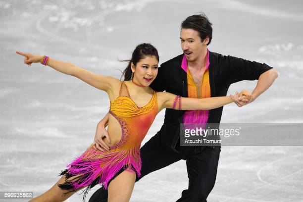 Kana Muramoto and Chris Reed of Japan compete in the Ice dance short dance during day two of the 86th All Japan Figure Skating Championships at the...