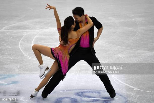 Kana Muramoto and Chris Reed of Japan perform at the ice dance short dance competition at the ISU Four Continents Figure Skating Championships in...