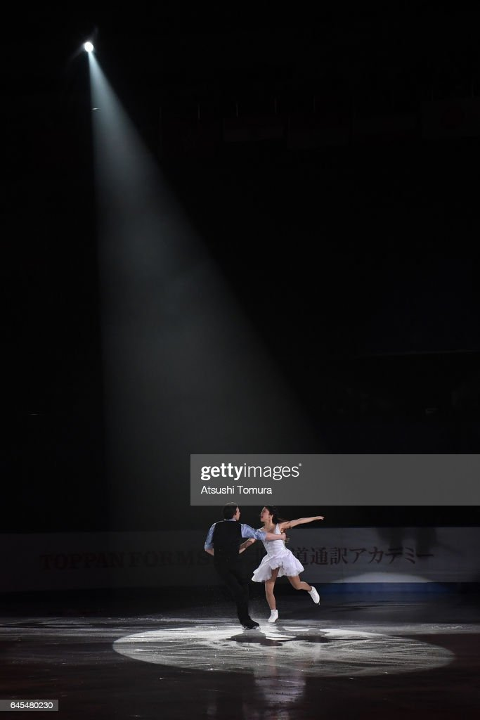 Kana Muramoto and Chris Reed of Japan perform their routine in the exhibition as a part of the closing ceremony on the day nine of the 2017 Sapporo Asian Winter Games at Makomanai indoor skating rink on February 26, 2017 in Sapporo, Japan.