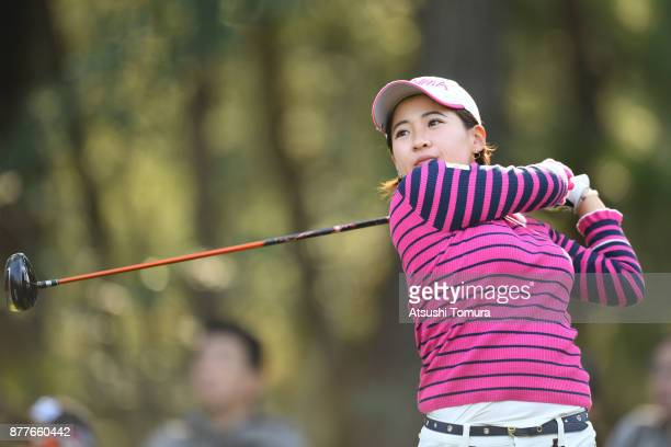 Kana Nagai of Japan hits her tee shot on the 2nd hole during the first round of the LPGA Tour Championship Ricoh Cup 2017 at the Miyazaki Country...