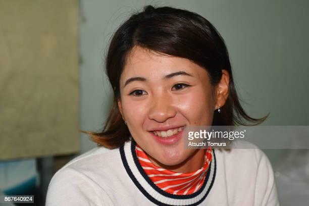 Kana Nagai of Japan smiles during the final round of the Higuchi Hisako Ponta Ladies at the Musashigaoka Golf Course on October 29 2017 in Hanno...