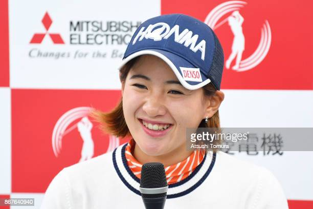 Kana Nagai of Japan smiles during the final round of the Higuchi Hisako Ponta Ladies at the Musashigaoka Golf Course on October 29 2017 in Hanno...