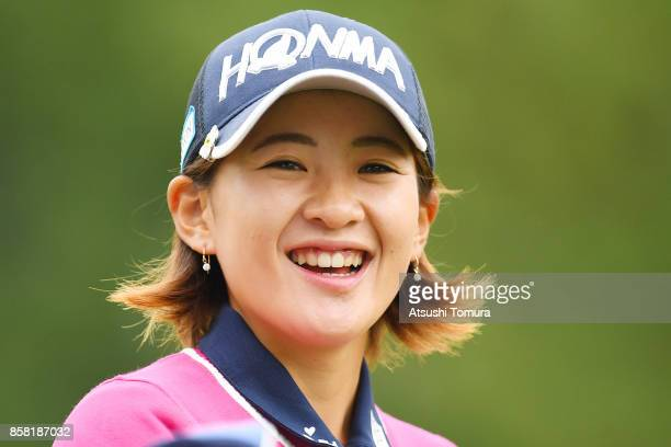 Kana Nagai of Japan smiles during the first round of Stanley Ladies Golf Tournament at the Tomei Country Club on October 6 2017 in Susono Shizuoka...