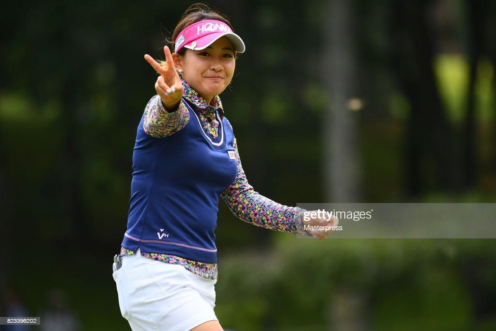 2014年、日本女子オープンで最終盤まで優勝争いを演じた永井花奈