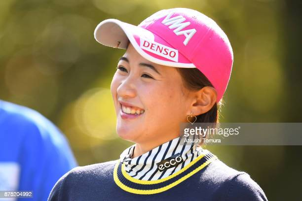 Kana Nagai of Japan smiles during the second round of the Daio Paper Elleair Ladies Open 2017 at the Elleair Golf Club on November 17 2017 in...
