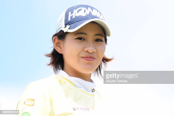 Kana Nagai of Japan smiles during the second round of the Resorttrust Ladies at the Oakmont Golf Club on May 27 2017 in Yamazoe Japan