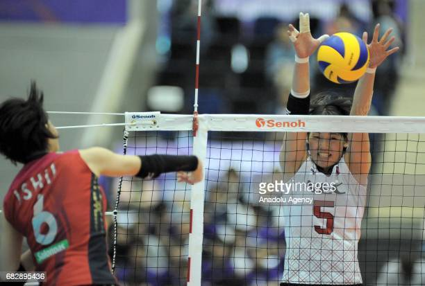 Kana Ono of Nec Red Rockets in action against Yuki Ishii during the final match for the 7th and 8th place of the FIVB Womens Club World Championship...