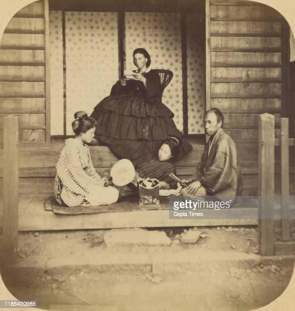 Kanagawa Group of European Lady and Japanese Attendants at the ViceConsulate at Kanagawa Pierre Joseph Rossier Negretti Zambra 1858Ð1859 Albumen...