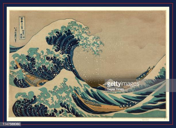 Kanagawa oki nami ura, The great wave off shore of Kanagawa., Katsushika, Hokusai, 1760-1849, artist, [between 1826 and 1833, printed later], 1 print...