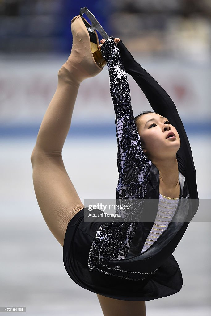 Kanako Murakami of Japan competes in the ladies free skating during the day three of the ISU World Team Trophy at Yoyogi National Gymnasium on April 18, 2015 in Tokyo, Japan.