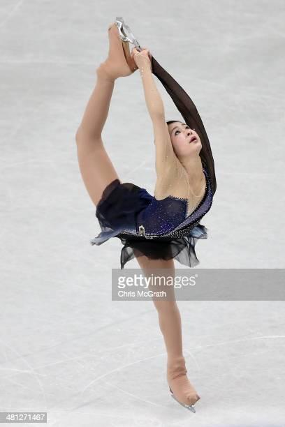 Kanako Murakami of Japan competes in the Ladies Free Skating during ISU World Figure Skating Championships at Saitama Super Arena on March 29, 2014...