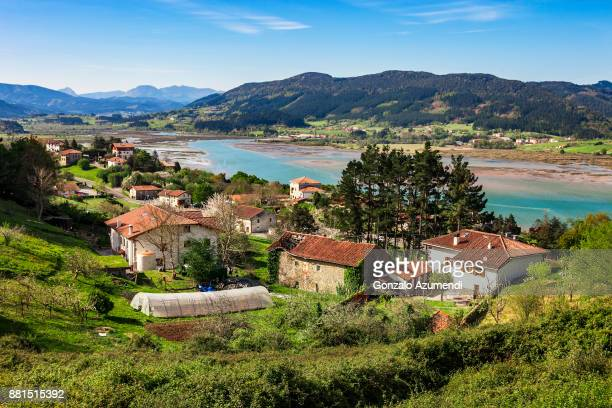 kanala in urdaibai region in bizkaia - バスク州 ストックフォトと画像