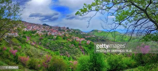 Kanalia & Fanari villages in spring colors panorama