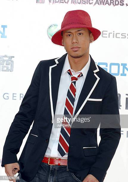 Kaname Kawabata of Chemistry during MTV Video Music Awards Japan 2007 Red Carpet at Saitama Super Arena in Saitama Japan