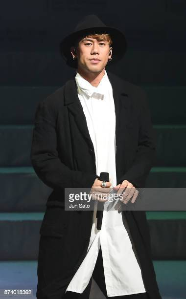 Kaname Kawabata of Chemistry performs onstage during the Miss International Beauty Pageant 2017 at the Tokyo Dome City Hall on November 14 2017 in...