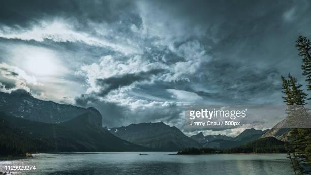 kananaskis lake - riverbank stock pictures, royalty-free photos & images