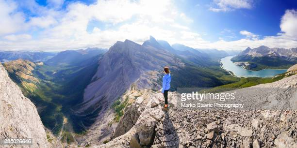 kananaskis panorama - mountain peak stock pictures, royalty-free photos & images