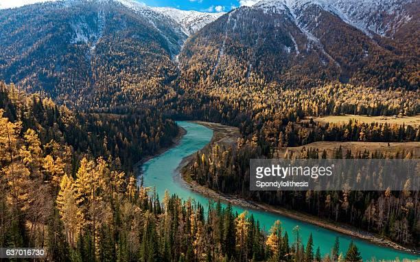 Kanas River View ,  Xinjiang, China