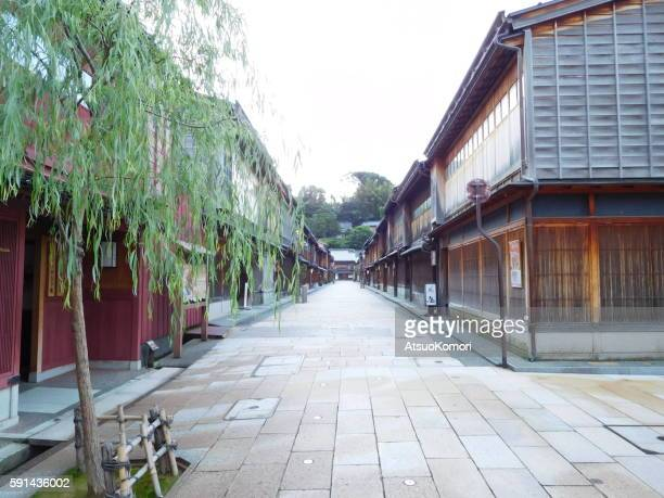 Kanazawa Higashi Chaya District in the morning