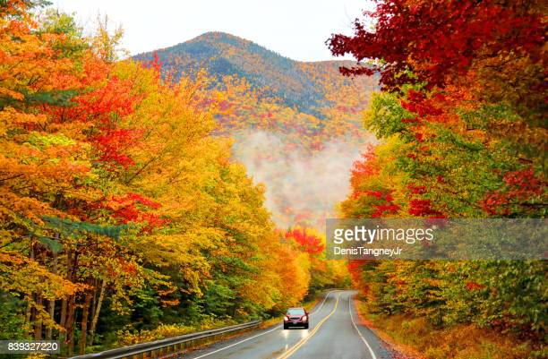 kancamagus highway in northern new hampshire - autumn falls stock pictures, royalty-free photos & images