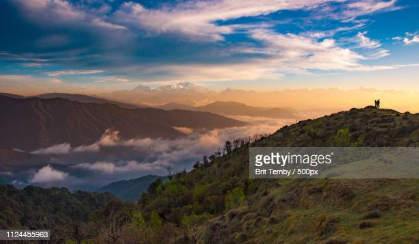 kanchenjunga in the morning - ridge stock pictures, royalty-free photos & images
